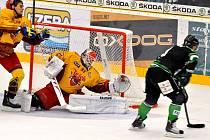V prvním letošním vzájemném utkání prokázali boleslavští hokejisté své kvality a Duklu doma porazili jasně 4:0. Favoritem duelu budou Středočeši i v sobotním zápase.