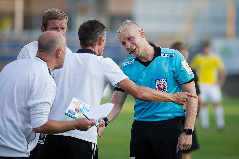 Fotbalové utkání 1. kola FNL mezi FC Vysočina Jihlava a FK Vansdorf.