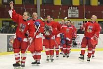 Po více než dvou letech přivítá Jihlava další atraktivní hokejový svátek. V březnu 2012 hostil Horácký zimní stadion veteránské utkání českých (na snímku) a švédských hokejistů.