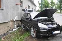 Nehoda v ulici Na Dolech v Jihlavě