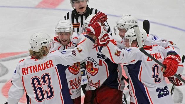 Stejně jako v prvním vzájemném derby se z vítězství radovali hokejisté Havlíčkova Brodu.