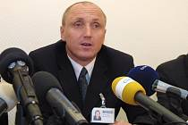 Tisková konference v Třebíči - na snímku ředitel nemocnice Petr Mayer.