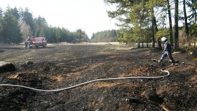 Jehličí, hrabanka, stromy v remízku a suchá tráva. To vše pohltily na konci minulého týdne plameny v Budišově na Třebíčsku. Příčinou vzniku požáru bylo podle hasičů špatně zajištěné ohniště. Způsobená škoda zatím nebyla vyčíslena.