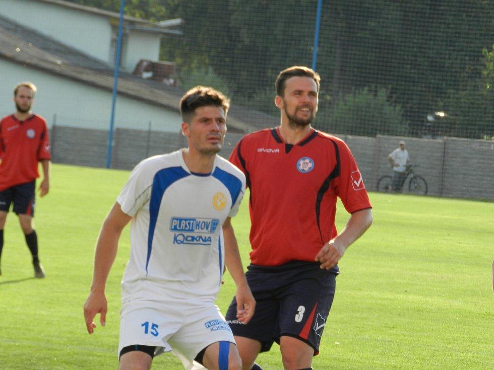 Fotbalisté Velkého Beranova (v bílém) na polenský Slavoj prostě neměli.