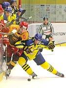 Houževnatost. Jihlavští hokejisté to měli na ledě Přerova obzvláště těžké. Zubři zejména v závěru sázeli na bojovnost.