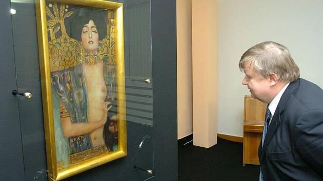 Judita. V jihlavské galerii návštěvníci uvidí i obrazy Gustava Klimta.