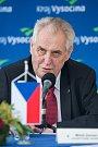 Návštěva prezidenta republiky v Kraji Vysočina v roce 2017. Závěrečná tisková konference.