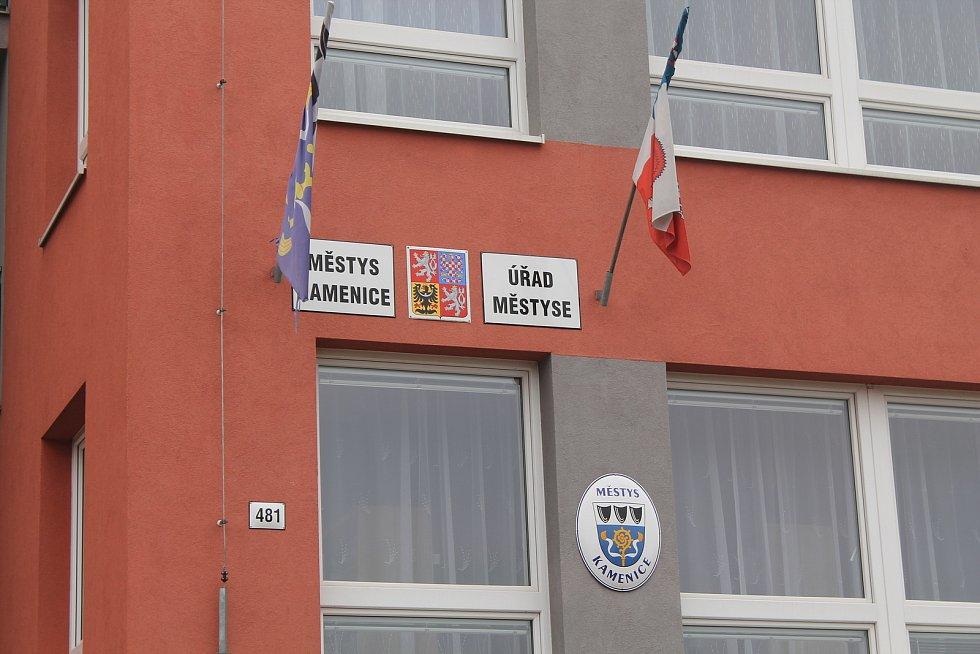 Úřad městyse v Kamenici na Jihlavsku.