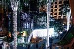 Vánoční výzdoba vbangkokských ulicích.