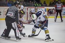 Úvodní zápas semifinále play off první hokejové ligy mezi HC Dukla Jihlava a Rytíři Kladno.