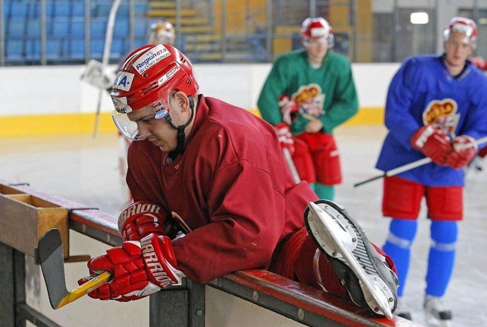 Snímky z prvního treninku Dukly Jihlava na novou sezonu