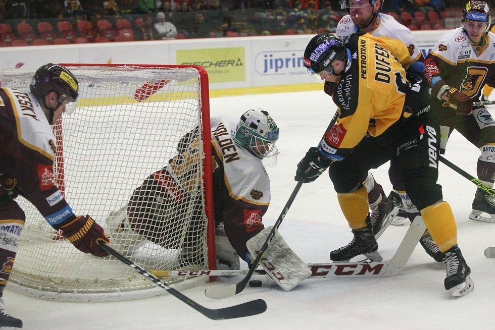 Zápas 36. kola hokejové extraligy HC Dukla Jihlava - HC Verva Litvínov.