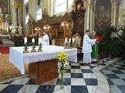 Svatohubertská mše se uskutečnila v premonstrátském kostele svatých Petra a Pavla v Nové Říši už podruhé.