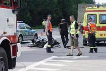 Motorkář nepřežil střet s dodávkou. Policejní inženýři zjistili, že je křižovatka na 112. kilometru dálnice D1 naprosto nepřehledná a nebezpečná.