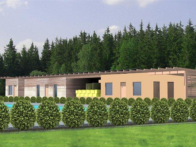 Takto by mělo po rekonstrukci vypadat koupaliště v Lukách nad Jihlavou. Reprofoto.