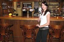 Bývalá provozní Veronika Fialová v Radniční restauraci.