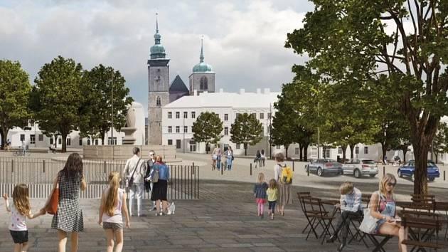 Vizualizace budoucnosti Masarykova náměstí, jak jí vidí architekti z MCA ateliéru.