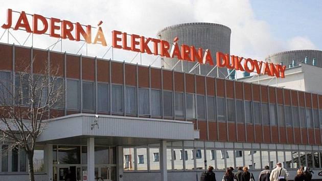 Elektrárna Dukovany.