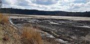Vypustěný Velký Pařezitý rybník na začátku dubna.