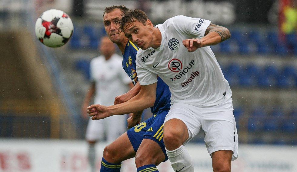 Druhý zápas první fotbalové ligy mezi FC Vysočina Jihlava a FC Slovácko.