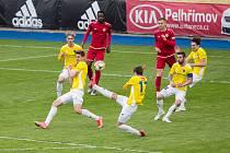 Fotbalové utkání mezi FC Vysočina Jihlava a MFK Chrudim.
