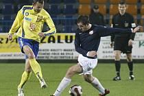 Petr Faldyna proti Krči dává góly pravidelně. Prosadil se i dnes, typicky ve vápně a hlavou.