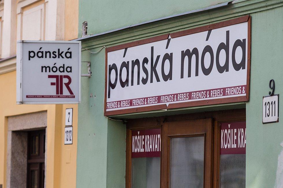 Uzavřené prodejny v Jihlavě.