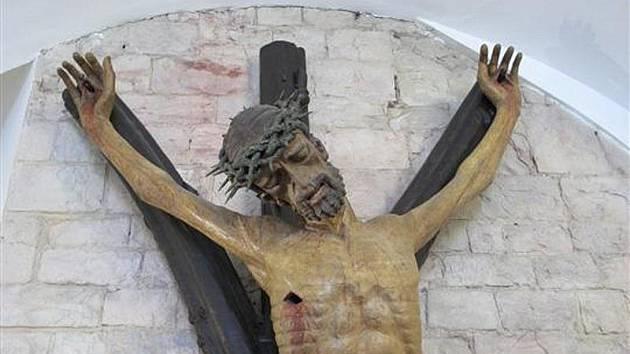 Zhruba dvoumetrová postava Krista je pověšena na kříži ve tvaru písmene Y, jenž představuje symbol Stromu života. Kde budou v Jihlavě viset její repliky, zatím není jasné.