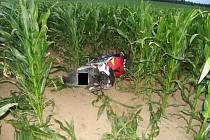 Nehoda motocyklu v úseku Příseka - Brtnice.