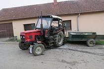 Dopravní nehoda traktorů na Jihlavsku.