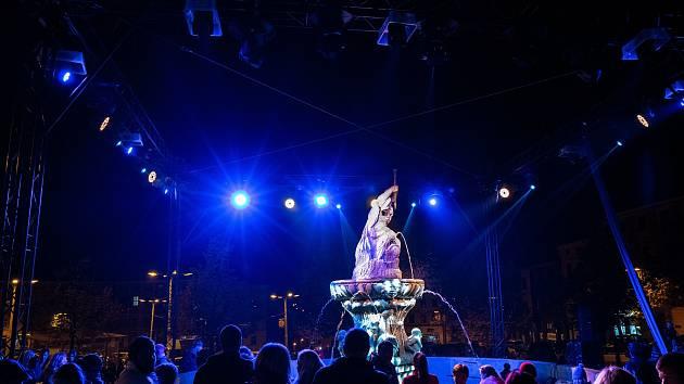 Festival světla v Jihlavě.