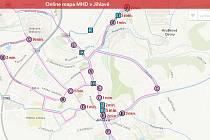 Online mapa MHD v Jihlavě.