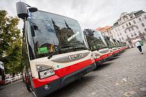 Autobusy jihlavského dopravního podniku. Ilustrační foto.
