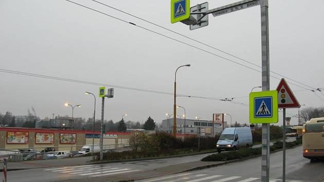 Na jihlavské Rantířovské ulici je v letošním roce nově nasvícený přechod pro chodce.