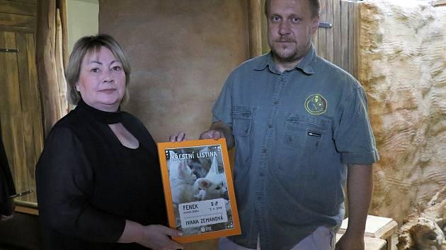 Ivana Zemanová v jihlavské zoo.