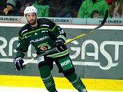 Hokejisté HC Energie (v zeleném) hostili Jihlavu. Matic Podlipnik