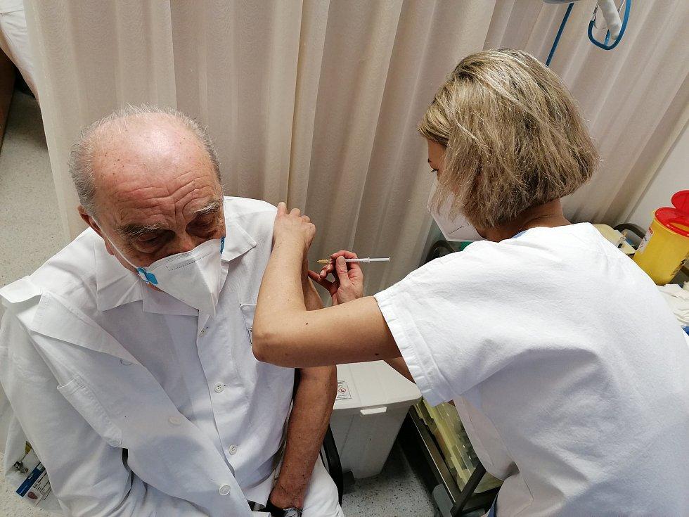 Očkování proti koronaviru na Vysočině.