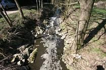 Znečištěná řeka závadnými látkami - ilustrační snímek
