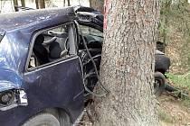 Nedělní nehoda u Třeště.