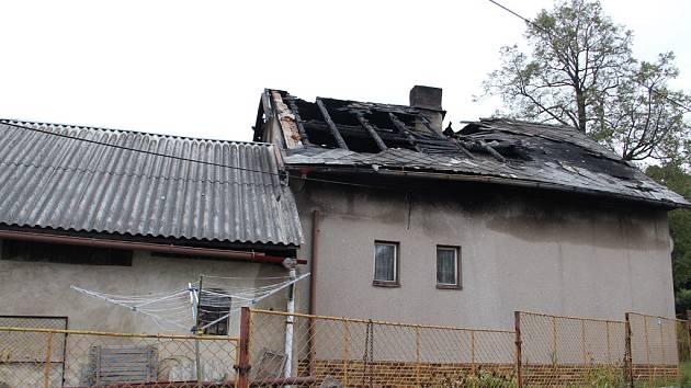 Výbuch a požár poškodily rodinný dům v Rankově u Chotěboře. Škoda je vyčíslena na půl milionu korun.