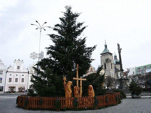 Vánoční strom v Havlíčkově Brodu.