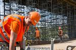 Stavba obchvatu Velkého Beranova dne 4.června 2020.
