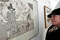 Díla grafika a ilustrátora, který je nejznámější svými ilustracemi Macha a Šebestové, jsou k vidění v jihlavské galerii do 28. února.