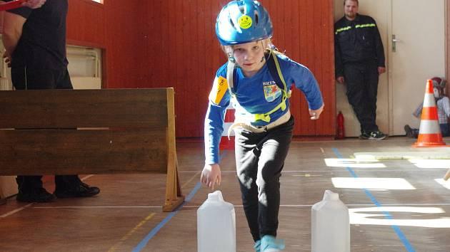 Dětská obdoba závodu TFA - Nejsilnější hasič přežije v Lukách na Jihlavou byla první podobnou soutěží pro děti do 11 let v okrese.