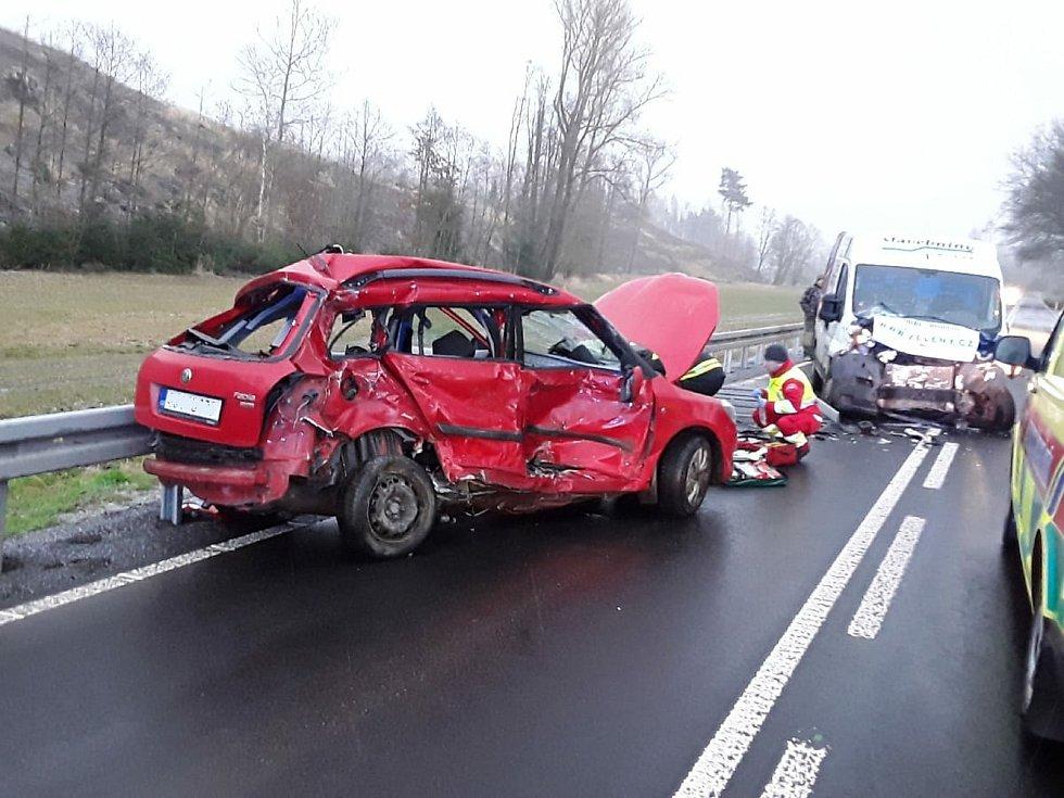 Tragická nehoda u Luk nad Jihlavou. Foto: Hasiči Vysočina