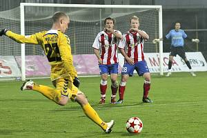 Utkání FC Vysočina se Zbrojovkou Brno v roce 2011 (2:0).