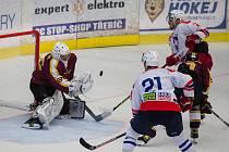 Jihlavští hokejisté (v tmavém) si po dlouhé pauze znovu zahrají! Do sezony odehrají pět přípravných duelů.