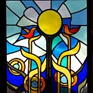 Návrh vitráže Karly Florianové.