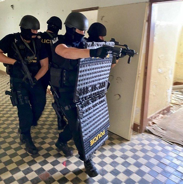 Prvosledové hlídky mají speciální výstroj i výzbroj. Policisté museli projít intenzivnějším výcvikem.