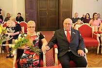 Manželé Pešoutovi z Jihlavy oslavili zlatou svatbu.